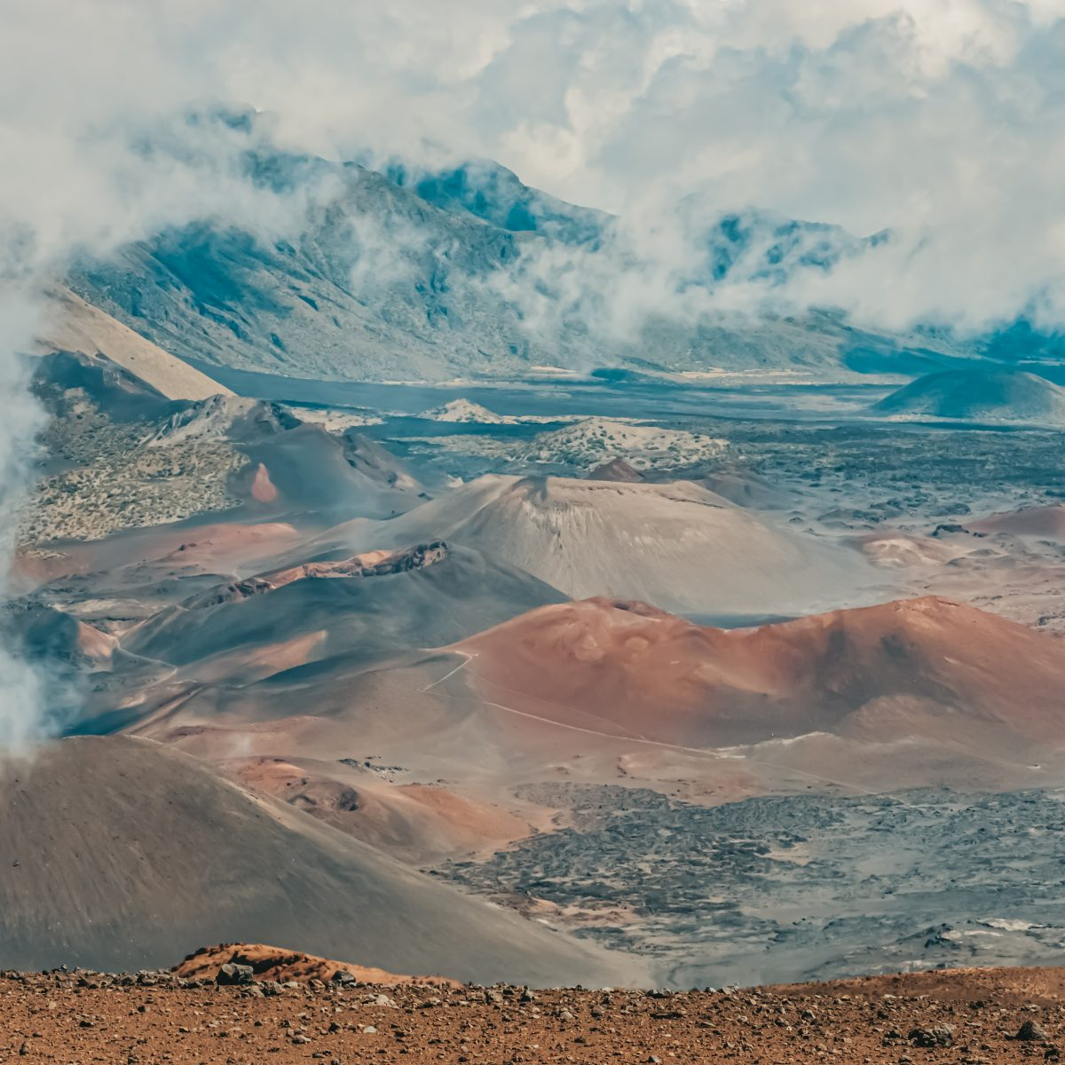Haleakala or walking on mars